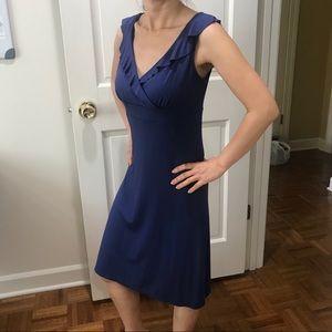 Ann Taylor Blue Ruffle Dress